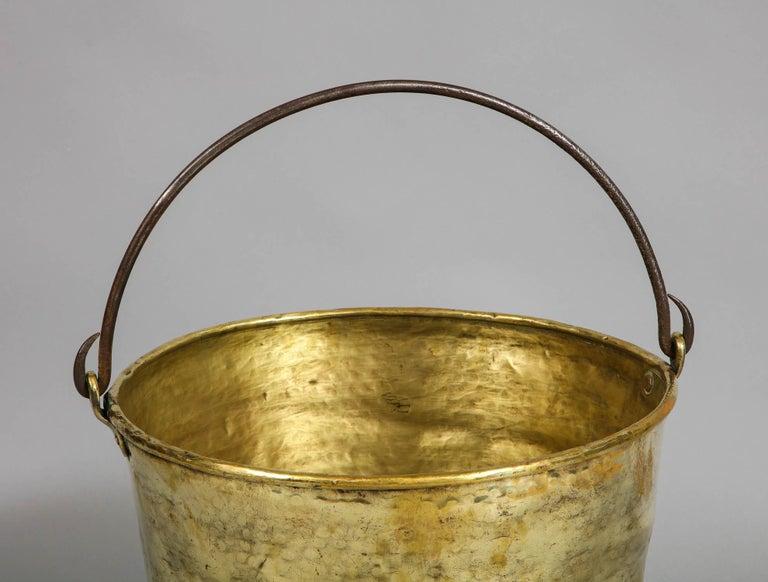 Georgian Early 19th Century Brass Log Bin For Sale
