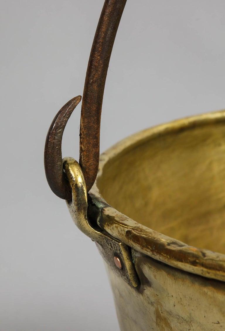 English Early 19th Century Brass Log Bin For Sale