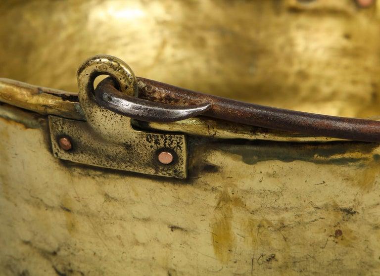 Early 19th Century Brass Log Bin For Sale 2