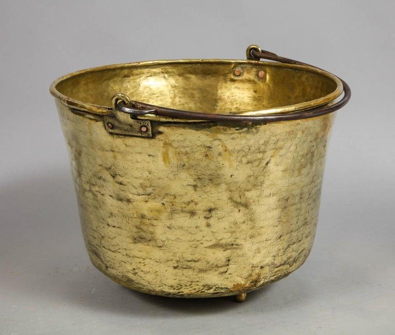 Early 19th Century Brass Log Bin For Sale 4
