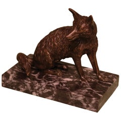 Early 19th Century Bronze Fox Cardholder