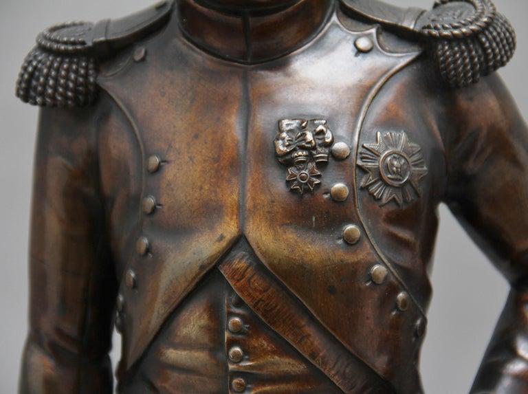 Early 19th Century bronze sculpture of Napoleon Bonaparte by Carle Elshoecht For Sale 4