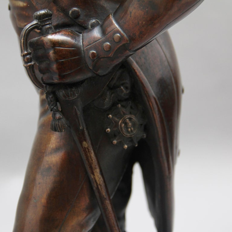 Early 19th Century bronze sculpture of Napoleon Bonaparte by Carle Elshoecht For Sale 6