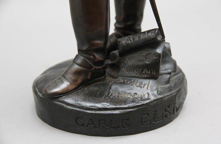 Early 19th Century bronze sculpture of Napoleon Bonaparte by Carle Elshoecht For Sale 7