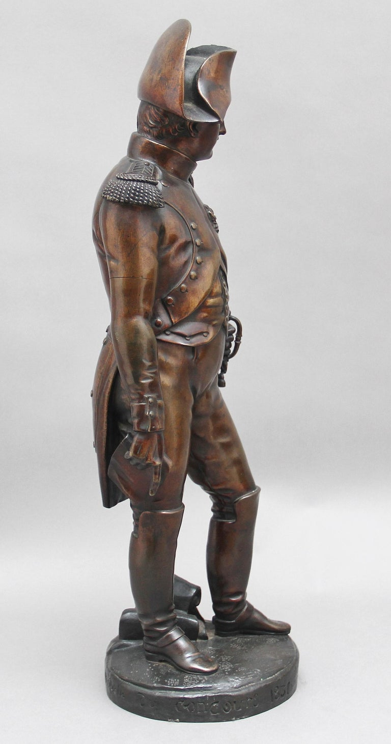 French Early 19th Century bronze sculpture of Napoleon Bonaparte by Carle Elshoecht For Sale