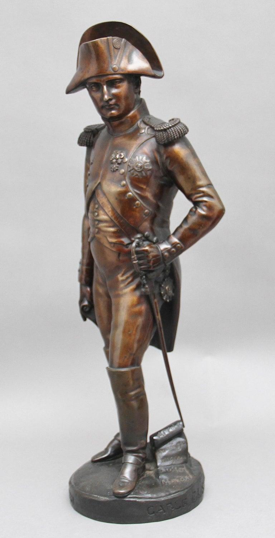 Bronze Early 19th Century bronze sculpture of Napoleon Bonaparte by Carle Elshoecht For Sale