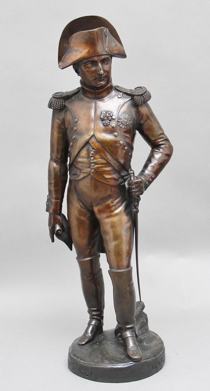 Early 19th Century bronze sculpture of Napoleon Bonaparte by Carle Elshoecht For Sale 1