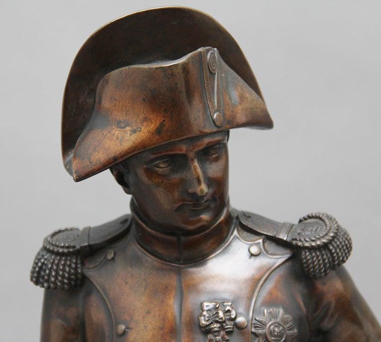Early 19th Century bronze sculpture of Napoleon Bonaparte by Carle Elshoecht For Sale 2