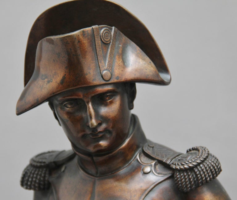 Early 19th Century bronze sculpture of Napoleon Bonaparte by Carle Elshoecht For Sale 3
