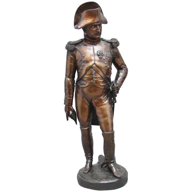 Early 19th Century bronze sculpture of Napoleon Bonaparte by Carle Elshoecht For Sale