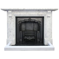 Early 19th Century Carrara Marble Fireplace Surround