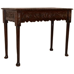 Early 19th Century Carved Oak Console Table