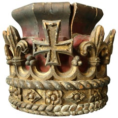 Early 19th Century Carved & Polychrome Crown
