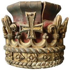 Early 19th Century Carved and Polychrome Crown
