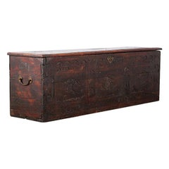 Early 19th Century Carved Walnut Coffer
