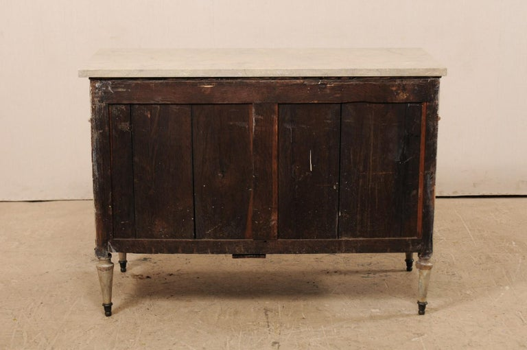 Early 19th C. French Neoclassical Commode with Fossilized Limestone Top For Sale 5