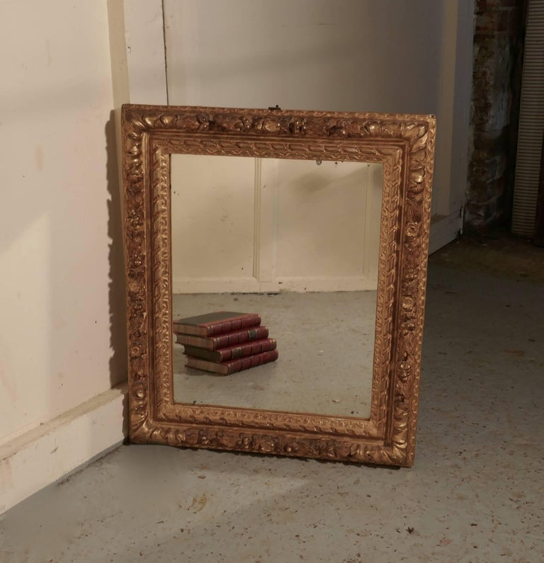 Early 19th Century Carved Wood Gilt Rococo Wall Mirror In Good Condition For Sale In Chillerton, Isle of Wight