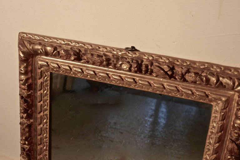 Early 19th Century Carved Wood Gilt Rococo Wall Mirror For Sale 2