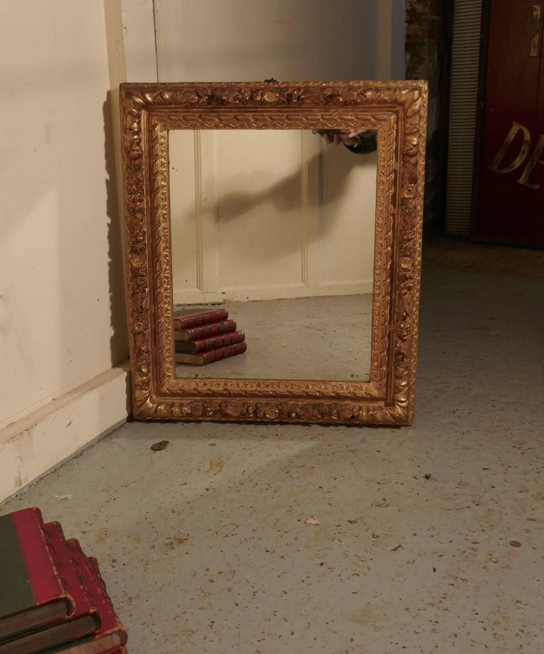 Early 19th Century Carved Wood Gilt Rococo Wall Mirror For Sale 5