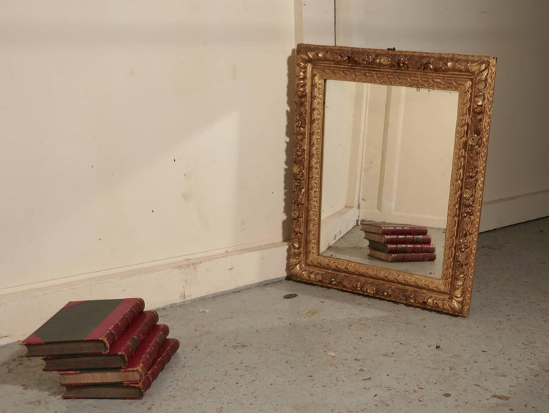 Early 19th Century Carved Wood Gilt Rococo Wall Mirror For Sale 6