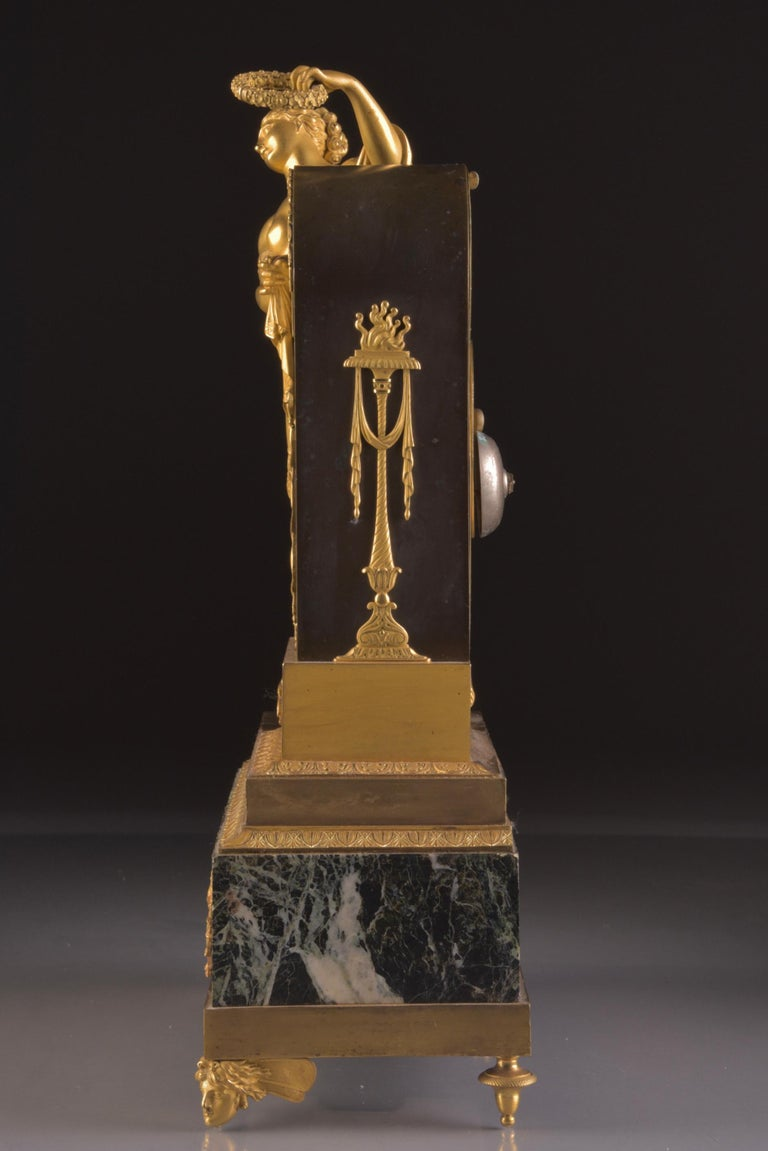 Bronze Early 19th Century Cercle Tournant Clock by Claude Galle, L Oubli Du Temps For Sale