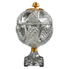 Early 19th Century Charles X Cut-Crystal and Gilt Bronze Goblet