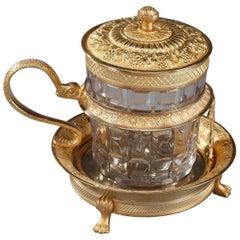 Early 19th Century Charles X Ormolu and Cut-Crystal Bowl