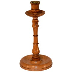 Early 19th Century Cherry Candlestick