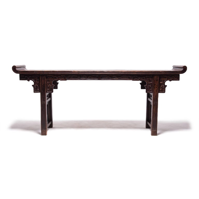 Qing Early 19th Century Chinese Altar Table with Everted Ends For Sale