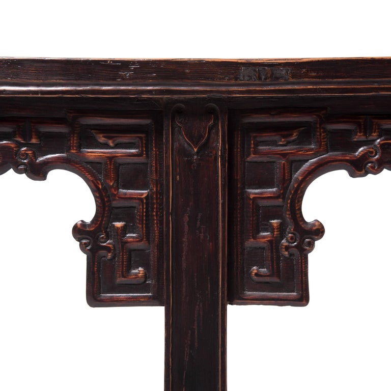 Early 19th Century Chinese Altar Table with Everted Ends For Sale 1