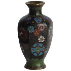 Early 19th Century Chinese Cloisonné Small Vase with good detail Qing circa 1800