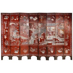 Early 19th Century Chinese Coromandel Lacquer Screen