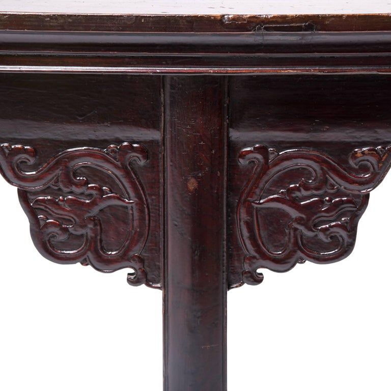 Early 19th Century Chinese Eight Dragons Flanked Altar Table For Sale 1