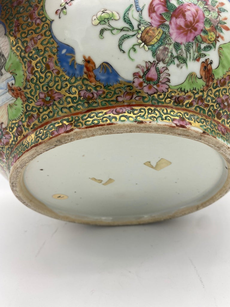19th Century Chinese Famille Rose Porcelain Large Bowl For Sale 6