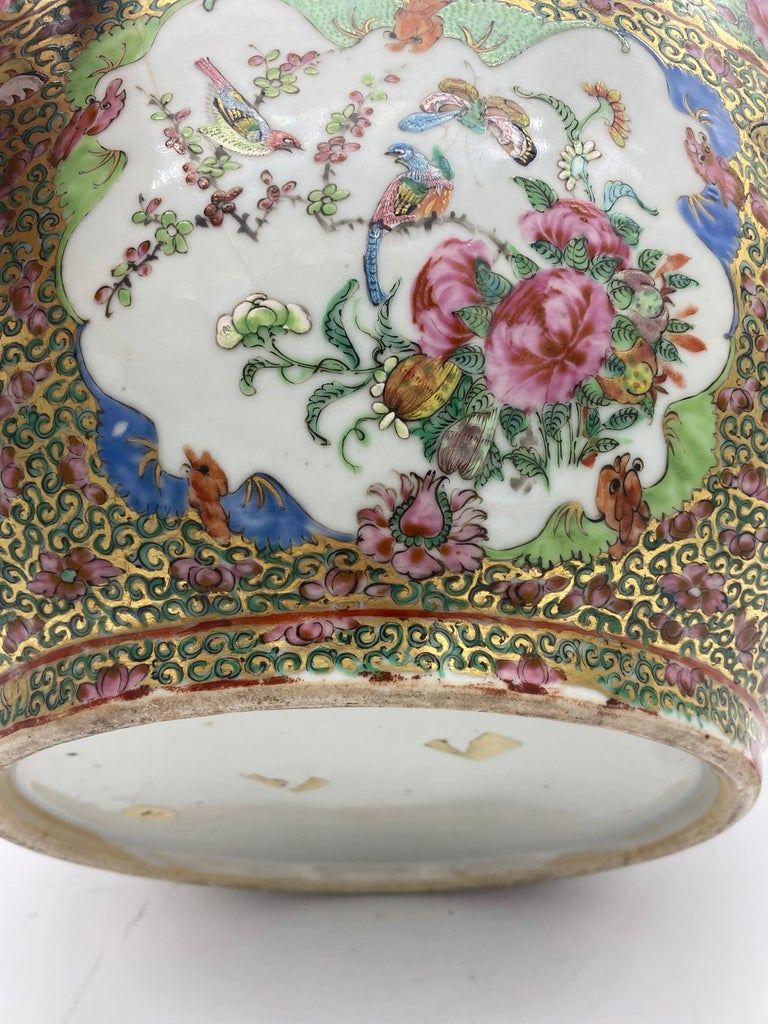 19th Century Chinese Famille Rose Porcelain Large Bowl For Sale 7