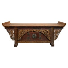 Early 19th Century Chinese Large Sideboard with Everted Ends