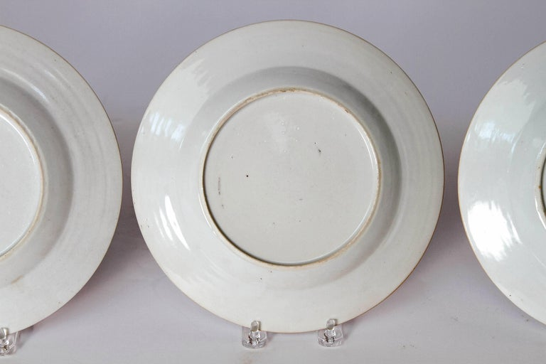 Early 19th Century Chinese Porcelain Plates Set of Six 12