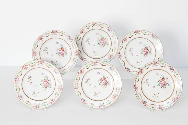 Early 19th Century Chinese Porcelain Plates Set of Six 2