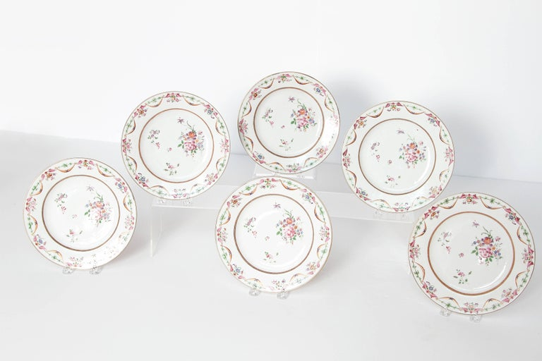 Early 19th Century Chinese Porcelain Plates Set of Six 3