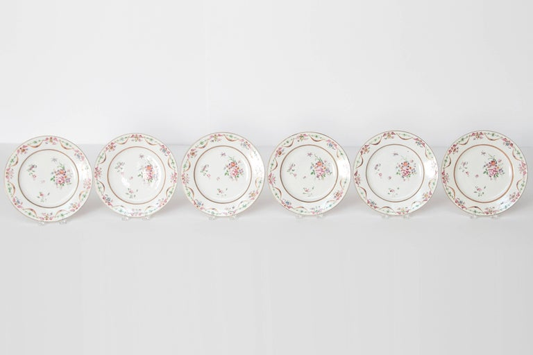 Early 19th Century Chinese Porcelain Plates Set of Six 4
