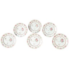 Early 19th Century Chinese Porcelain Plates Set of Six