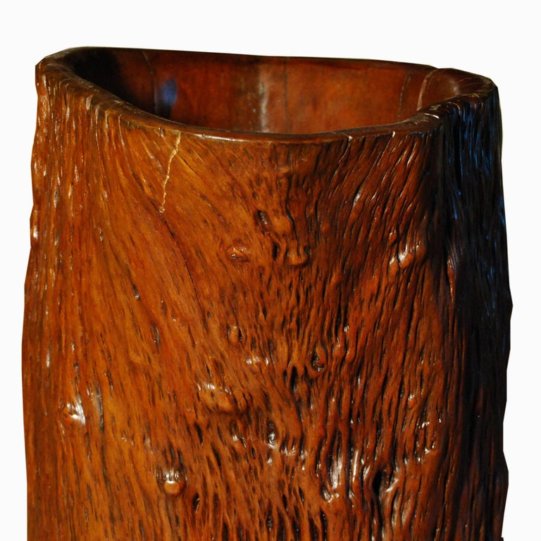 Qing Early 19th Century Chinese Scholar's Root Pot For Sale