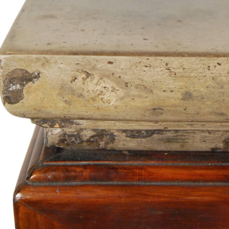 In our 20 years of collecting, we've never come across an early 19th century stone top as distinctive as the one on this table. The undercut, decorative-edged stone has aged exquisitely over hundreds of years of use - it was likely used for incense