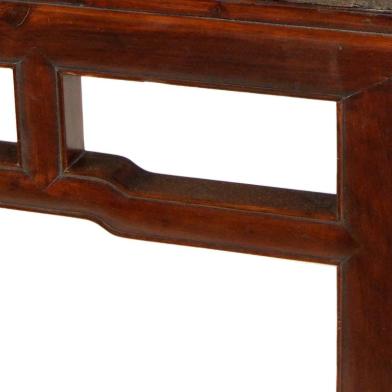 Qing Early 19th Century Chinese Stone Top Incense Table For Sale
