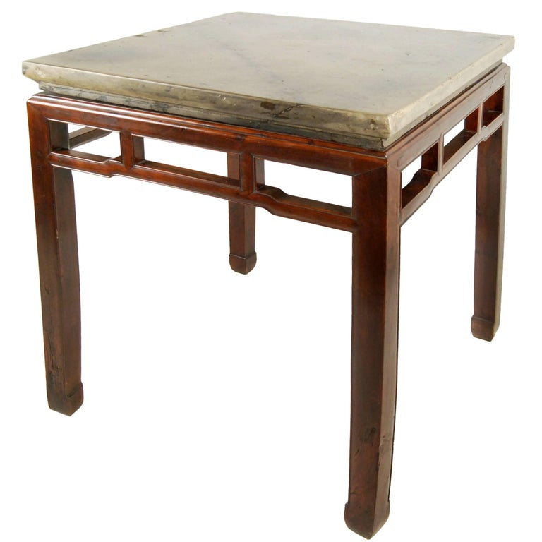 Early 19th Century Chinese Stone Top Incense Table For Sale