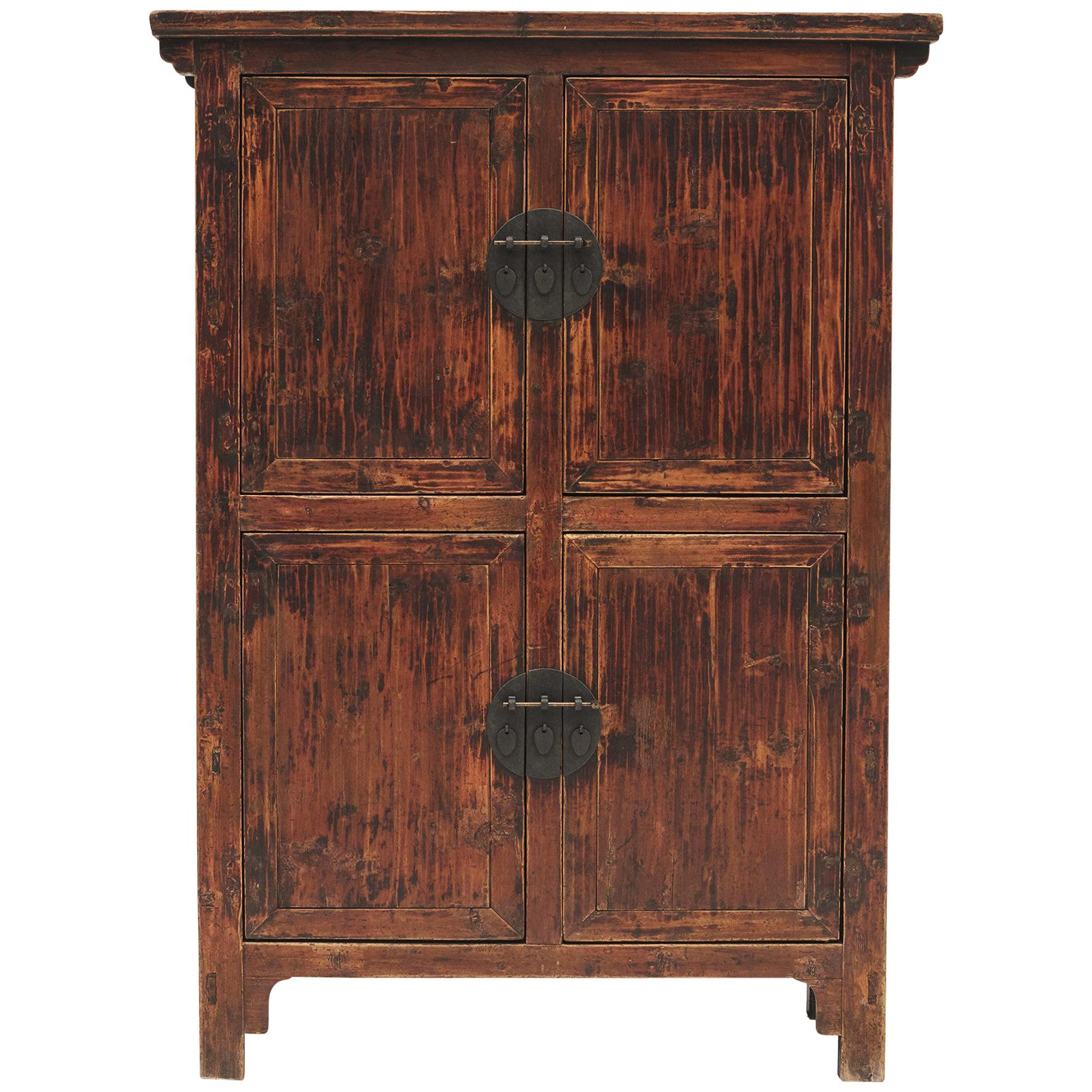 Early 19th Century Chinese Walnut Cabinet