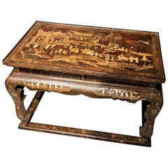 Early 19th Century Chinoiserie Decorated Side, Coffee Table or Stool