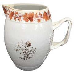 Early 19th Century circa 1800 Chinese Export Porcelain Pitcher