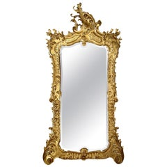 Early 19th Century circa 1830 Italian Giltwood Mirror