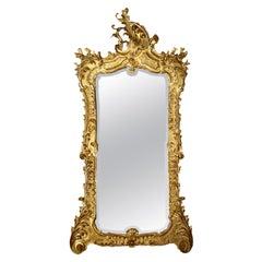 Early 19th Century circa 1830 Italian Giltwood Mirror